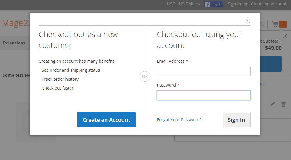 How Is The Checkout Authentication Modal Dialog Implemented Magento 2
