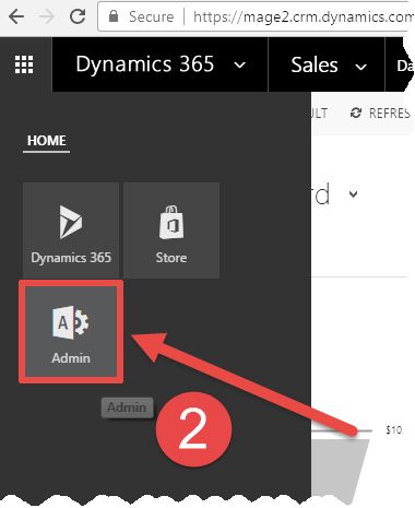 Where is my Dynamics 365 Admin center located? - Magento 2
