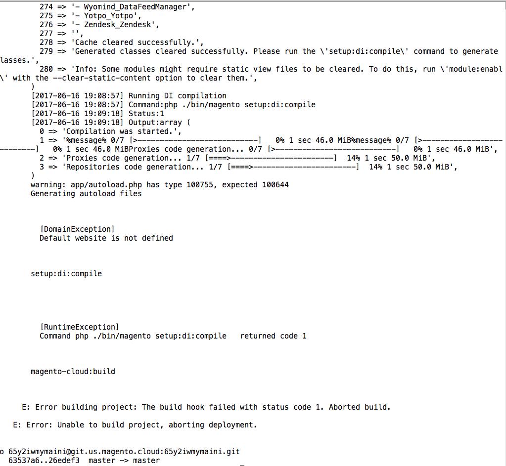 Magento Enterprise Cloud Edition bug: «The file