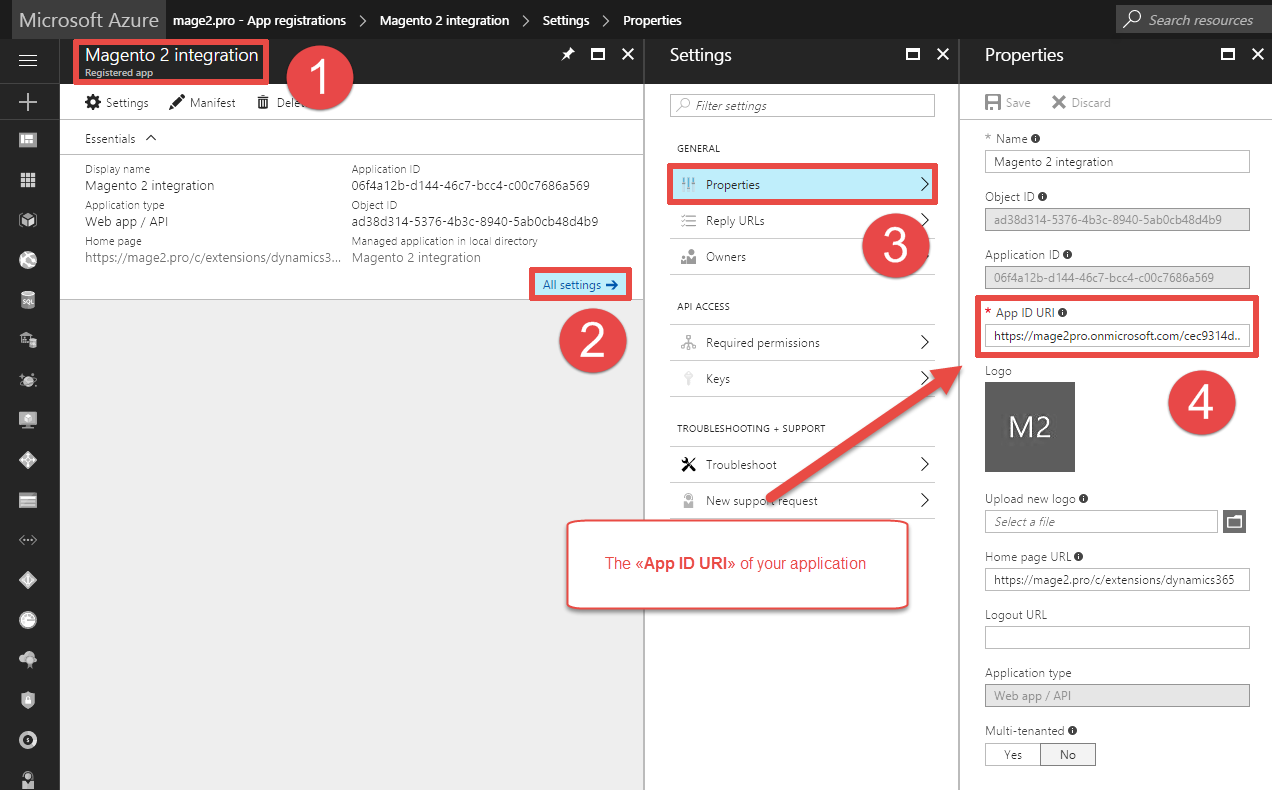 How to find out the «App ID URI» of your Microsoft Azure Active